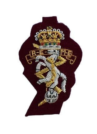 REME Airborne Officers Cap Badge on Maroon